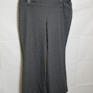 New York & Company Gray Pull On Pant Size 12
